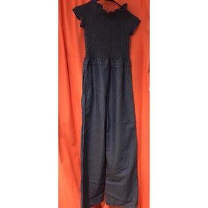 Denim colored jumpsuit